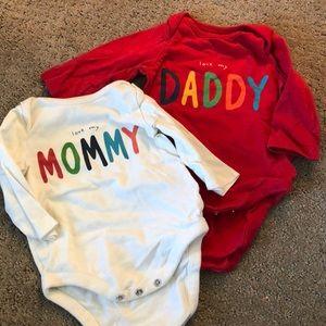 Lot of 2 Baby Gap onesies